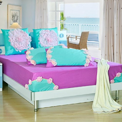 purple and turquoise bedding car tuning